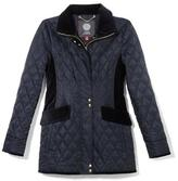 Vince Camuto Velvet-trimmed Diamond-quilted Jacket
