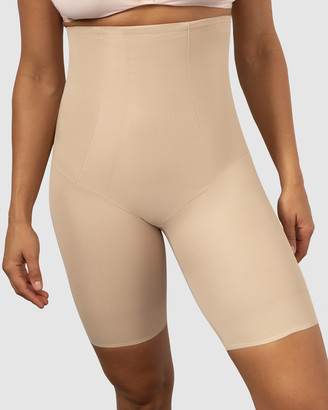 Miraclesuit Shapewear - Women's Nude Shapewear - Shape With An Edge Hi Waist Long Leg Briefs - Size One Size, M at The Iconic