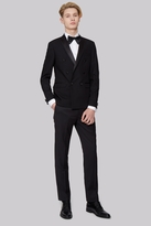 Moss Bros Skinny Fit Black Double Breasted Dress Suit