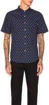 Stussy Mini Paisley Button Down in Navy. - size S (also in )