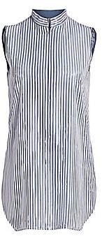 Akris Women's Sleeveless Foil Pleat Tunic Blouse