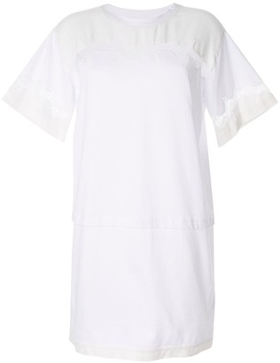 3.1 Phillip Lim lace insert T-shirt dress