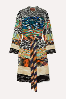Missoni Belted Chunky-knit Cardigan - Black