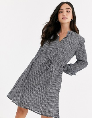 JDY Serena long sleeve chiffon dress