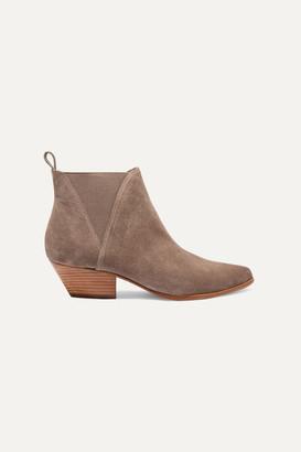 Diane von Furstenberg Nadie Suede Chelsea Boots - Taupe