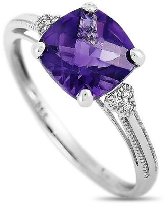 Non Branded Lb Exclusive 14K 0.03 Ct. Tw. Diamond & Amethyst Ring