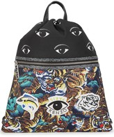 Kenzo Print-panelled Shell Backpack
