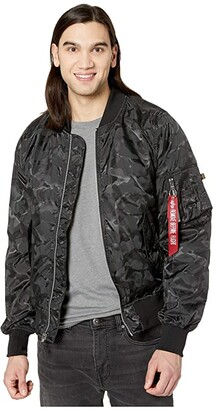 Alpha Industries L-2B Scout L.O. Camo Gen II Flight Jacket (Black Camo) Clothing