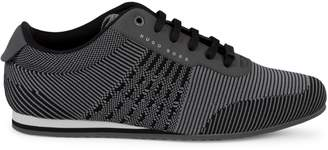 HUGO BOSS Striped Knit Sneakers