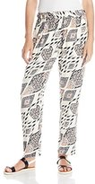 Vince Camuto Women's Marrakesh Tapestry Slim Leg Pleated Pant