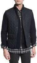Belstaff Lightweight Quilted Tech Vest, Dark Navy