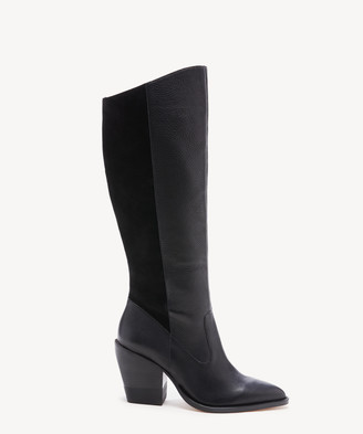 Sole Society Women's Maja Tall Boots Black Size 5 Leather From