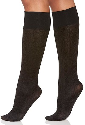 Berkshire Comfy Cuff Cable Knit Knee Highs