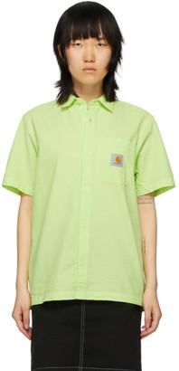 Carhartt Work In Progress Green Seersucker Southfield Shirt