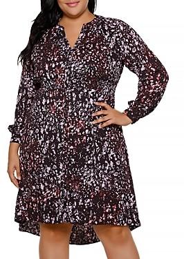 Belldini Printed Shirt Dress