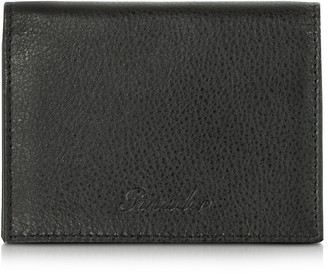 Pineider Country Black Leather Business Card Holder