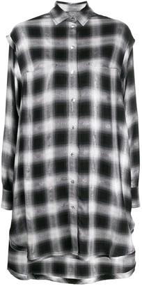 Diesel Check Print Shirt Dress