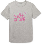Nonnative - Happy Hour Printed Mélange Cotton-jersey T-shirt