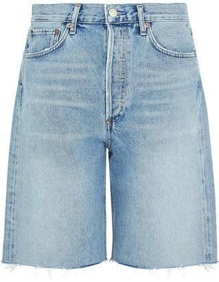 A Gold E 90's Pale Blue Denim Shorts