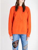 Christopher Kane Logo-embroidered cotton-blend sweatshirt