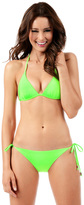 Voda Swim Neon Green String Bikini Bottom