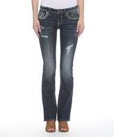 Vigoss Dark Wash Double-V Pocket Bootcut Jeans