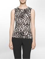 Calvin Klein Leopard Metal Link Sleeveless Top