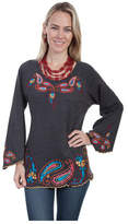 Scully Women's Knit Pullover HC277 - Charcoal Long Sleeve Shirts