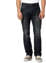 Jeff Banks Designer Dark Blue Vintage Wash Straight Fit Jeans