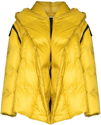 Issey Miyake Detachable-Sleeve Zip-Up Puffer Jacket
