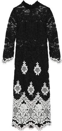 Alexis Embroidered Corded Lace Dress