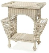 The Well Appointed House Wicker Magazine Table in Variety Colors