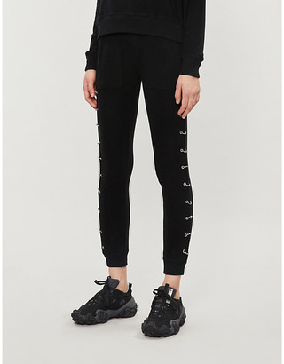 The Kooples Sport Ring-detail stretch-jersey tapered jogging bottoms