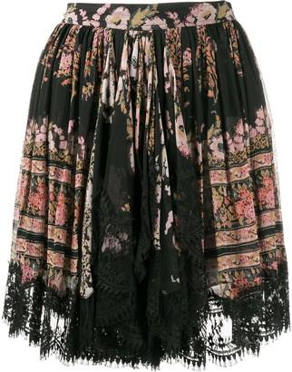 Etro Floral-Print Flared Skirt