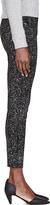 Proenza Schouler Black Speckle Print High-Waisted Skinny Jean