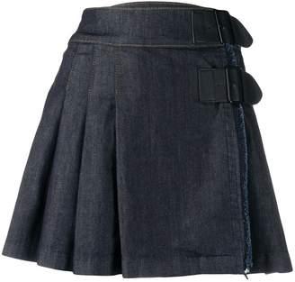 Benetton pleated denim skirt