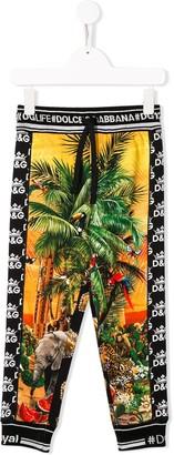 Dolce & Gabbana Palm Logo Leggings