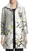 Caroline Rose All-in-Bloom Jacquard Party Jacket, Light Yellow, Plus Size