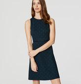 LOFT Filigree Jacquard Flare Dress