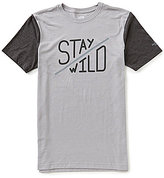 The North Face Short-Sleeve Stay Wild Tri-Blend Slim-Fit Crew Neck Graphic Tee