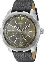 Diesel Men's DZ1739 Machinus Nsbb Stainless Steel Black Leather Watch