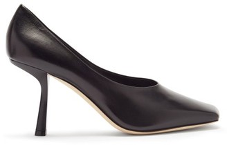 Jimmy Choo Marcela 85 Square-toe Leather Pumps - Black