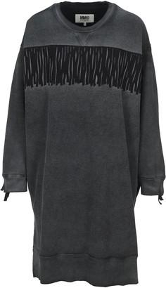 MM6 MAISON MARGIELA Oversized Fringe Sweatshirt Dress