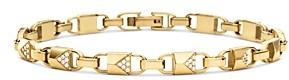 Michael Kors Mercer Link Sterling Silver and Pave Bracelet in 14K Gold-Plated Sterling Silver, 14K Rose Gold-Plated Sterling Silver or Solid Sterling Silver