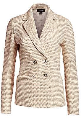 St. John Women's Rope Tweed Knit Double Breasted Jacket