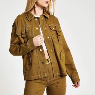 River Island Womens Brown utility denim army jacket