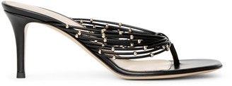 Gianvito Rossi Black leather thong sandals