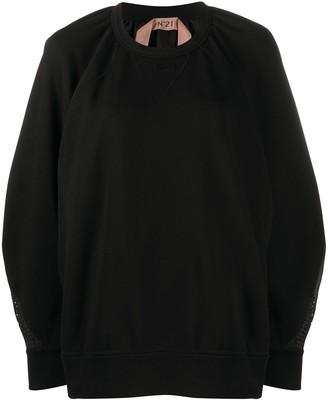 No.21 Oversized Mesh Back Sweatshirt