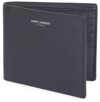 Saint Laurent Grain Leather Wallet