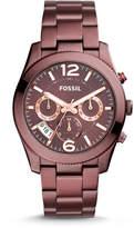 Fossil Perfect Boyfriend Sport Multifunction Wine Stainless Steel Watch